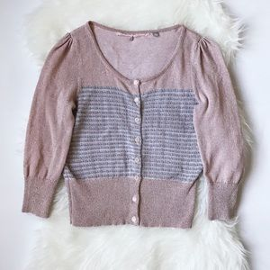 Anthropologie Knitted and Knotted Sparkle Cardigan